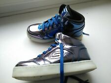 Sketchers Metalic Rose Mid Top Trainers girls  size 13 Energy Lights