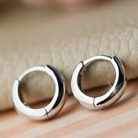 Women Adorable Tiny Ring 925 Sterling Silver Round Hoop Mini Earrings Gift Idea