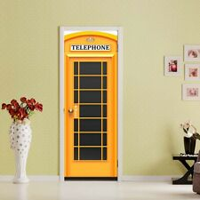 Removable 3D Call Box Door Stickers Creativity Wall Decals Room Home Decoration