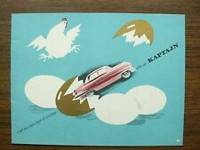 Opel Kapitan Kaptajn Ad Brochure 1950s