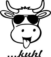 ...kuhl - Aufkleber Auto Folie KFZ Tattoo Kuh Spruch Größe V2 lustig cool Zunge