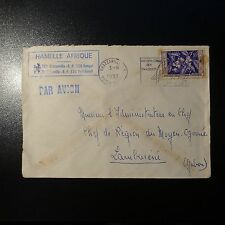 MOYEN CONGO LETTRE COVER 1957 BRAZAVILLE PR ADMISTRATEUR CHEF DE REGION AU GABON