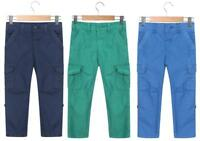 Boys Cargo Trousers Pants Kids Casual Light Elasticated Waistband