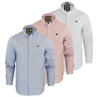 Brave Soul Pompei Mens Shirt Long Sleeve Oxford Cotton Collared Casual Top