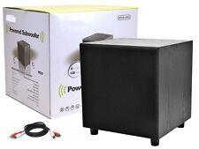 8 Inch Home Subwoofer Powered 60W Subwoofer Audio Speaker 8'' Black