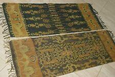 Hand spun Hand woven Intricate Sumba Hinggi Warp Ikat Tapestry Dye Resist IRS28