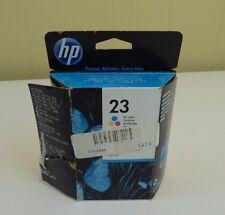 HP 23 Tri-Color Ink Cartridge C1823D Genuine New 6/13