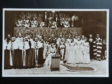 Royal Coronation THE QUEEN IN THE CHAIR OF ESTATE 1953 RP Valentine C49