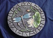 Round Dragonfly Concrete Cement Plaster Garden Patio Stepping Stone Mold 1106