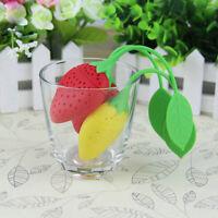New Strawberry Loose Tea Leaf Strainer Herbal Spice Infuser Filter Diffuser