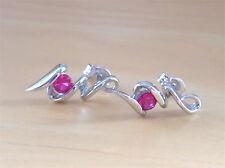 925 Ruby (Lab Created)Earrings/Ruby Earrings/Ruby Jewellery/July Birthstone Gift