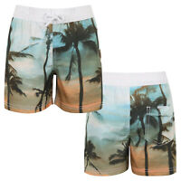 Nifty Kids Boys Palm Tree Print Swimming Board Shorts Childs Summer Beach Trunks