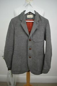 OLIVER SPENCER Tweed Chore Jacket £389 Size Small 36/46 Mr Porter Blazer Albam
