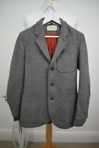 OLIVER SPENCER Tweed Chore Jacket £389 Size Small 36/46 Mr Porter Blazer Albam