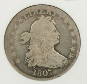 1807-P 1807 Draped Bust Quarter ANACS G4 old small holder