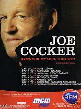Publicité advertising 2007 Concert Tournée Joe Cocker