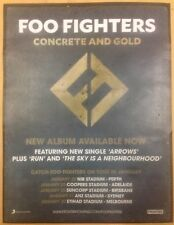 Foo Fighters Laminated Promotional Tour Poster