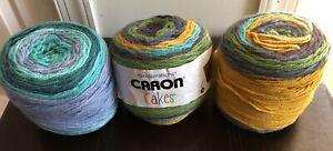3 Caron Cakes Self Stripping Yarn Honey Berry 21 oz Acrylic Wool Blend