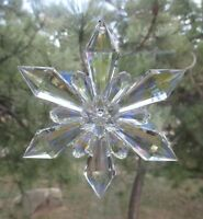 "w 4.5"" snowflake SUN CATCHER ORNAMENT Crystal expressions Ganz sun catcher"