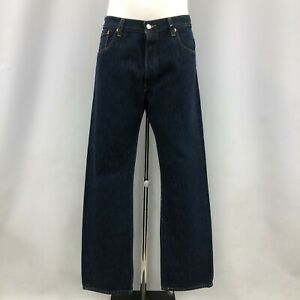 """New Levi's Jeans Mens Size UK 38"""" 32"""" 501's Dark Blue Cotton Casual 110558"""