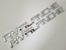 2p Chrome Avalanche FIT Chevy Door Fender EMBLEM Chevrolet NAMEPLATE BADGE NAME