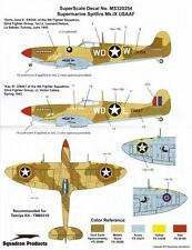 1/32 USAAF Spitfire Super Scale US Decal for Revell Monogram Hasegawa Trumpeter