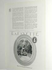 1920 LaFayette advertisement, Lafayette Motors Company, old auto