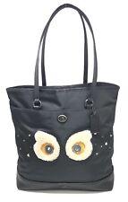 Coach F22895 Black Bear Nylon Leather Tote Bag Shoulder Bag Limited Edition $350