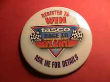 TASCO RACE TO ATLANTA SPEEDWAY AUTO RACING NASCAR TELESCOPE SCOPE PIN PINBACK