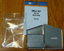 Walthers #949-659 (Drill Set) #61-80 With Case (Small drill bits)