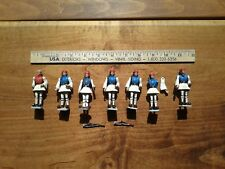 "7 VINTAGE AOHNA HARD PLASTIC SOLDIER FIGURES 2.75"" PLUS RIFLES Made in Greece"