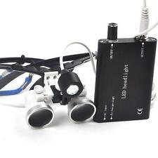 Dental Surgical Binocular Loupes 3.5X420MM Optical Glass + LED head light Sale
