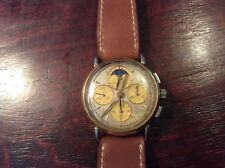 Vintage Baume mercier highly complicated chronograph ,day,moon phase watch.