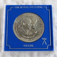 1986 ANDREW & FERGIE ROYAL WEDDING PROOF MEDAL - barclays / cased