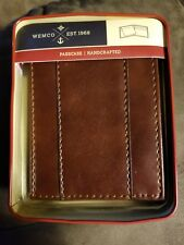 Wemco™ Men's Light Brown Passcase With Overlay Wallet NEW 1 Bill 7 Card ID Slots