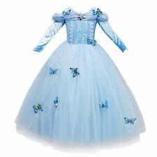 Deluxe Abito Ragazze Principessa Fleur Blu Francese AURORA Fata Costume