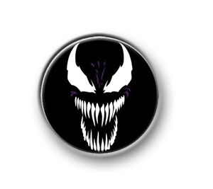 "VENOM / 1"" / 25mm pin button / badge / Marvel / Avengers / Iron Man / Spiderman"