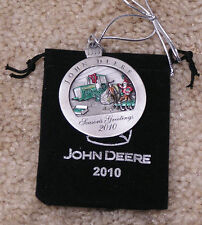 2010 John Deere Pewter Christmas Ornament