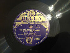 """A Story For Children By JACK JACKSON """"The Enchanted Trumpet"""" 78rpm 10"""" EXC"""
