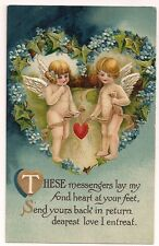Beautiful Blue BB London Valentine with two cupid angels holding a heart