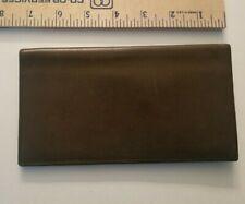 Vintage Coach Brown Leather Slim Bifold Wallet Checkbook