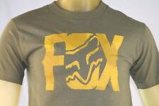 "FOX RACING GREEN MEN'S GRAPHIC T-SHIRT W/ GOLD ""FOX"" LOGO size Large"