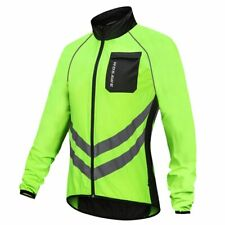 High Visibility Cycling Windbreakers Safety Jacket Vest Mountain Bike Raincoat
