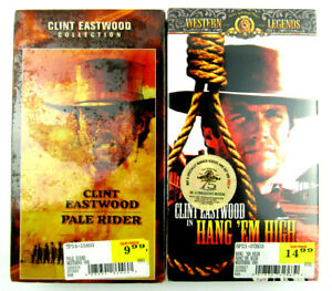 Lot of 2 Clint Eastwood VHS Sealed Movies Pale Rider / Hang'em High