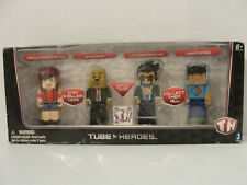 Tube Heros Deluxe Gaming Pack 10065 4 Action Figures NEW in Box
