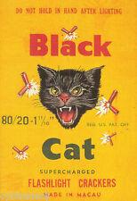 Firecracker Black Cat Image Refrigerator / Tool Box Magnet  Man Cave
