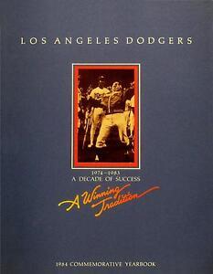 1984 Los Angeles Dodgers Yearbook - NM-MINT