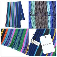 "PAUL SMITH MENS MERINO WOOL SCARF ""LACEY"" MULTI STRIPE BRAND NEW"