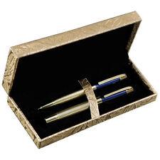 Exklusives Schreibset mit Rollerball und Kugelschreiber in goldener Box