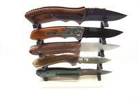 Knife Display Stand Kit Knife Rack Fixed or Folding Blade Medium Knives v5